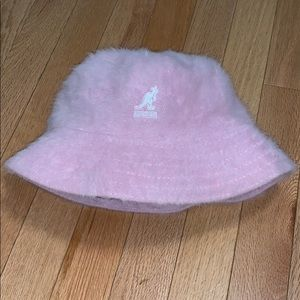 Kangol light pink hat